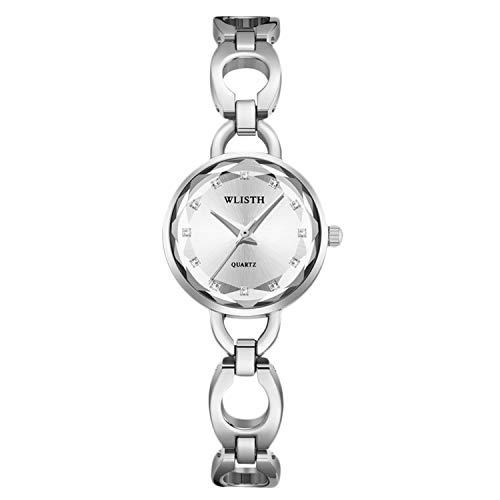 RORIOS Elegante Mujer Relojes Simulado Diamante Relojes Cuarzo Analogico Relojes Exquisito Niña Pulsera Acero Inoxidable Correa Women Watch