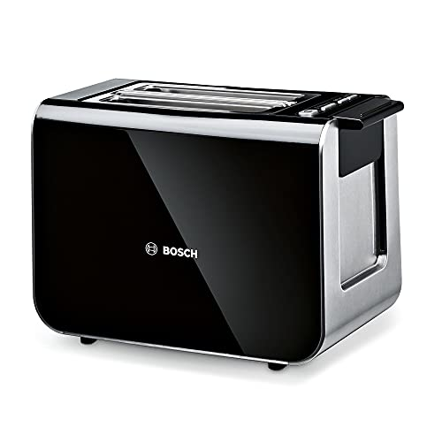 Bosch Styline TAT8613GB 2 Slot Stainless Steel Toaster with variable controls - Black