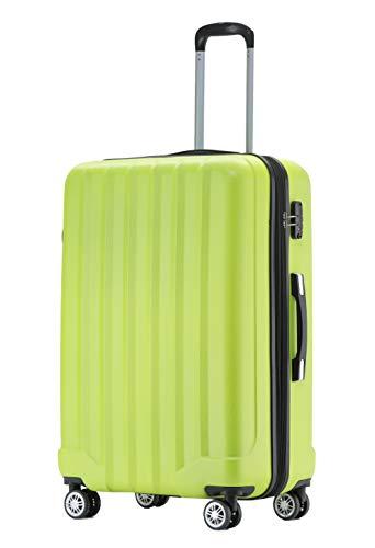 BEIBYE TSA-Schloß 2080 Hangepäck Zwillingsrollen neu Reisekoffer Koffer Trolley Hartschale Set-XL-L-M(Boardcase) (Green, L)