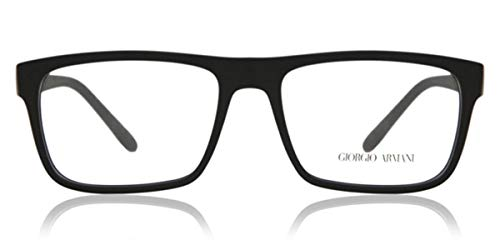 ARMANI BLACK RUBBER WITH DEMO LENS LENS
