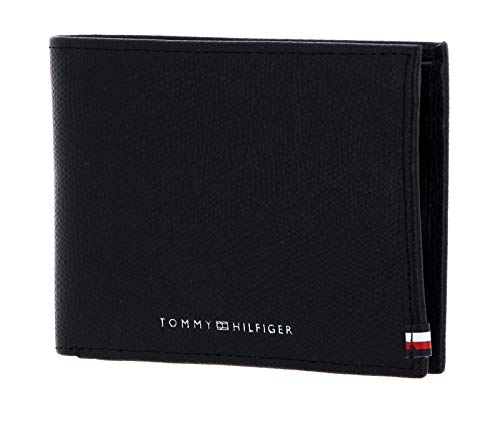TOMMY HILFIGER Business CC and Coin Wallet and Key Fob Black