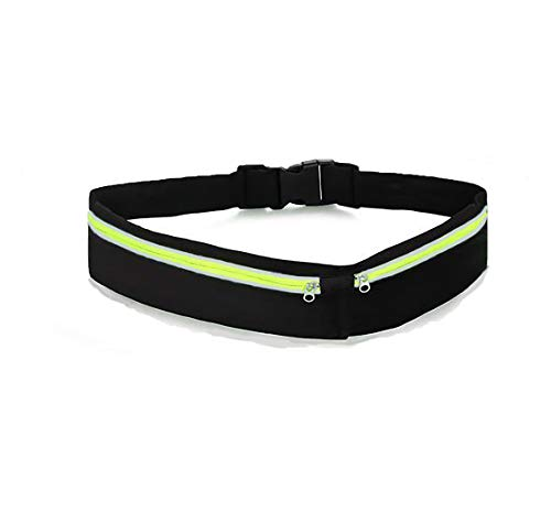 ENGYEN Running Belt, iPhone Holder, Fanny Pack, Runners Pouch for Women Men, Slim Waist Bag for Exercise Workout Sport, Carry Phone, Key, Multi Colors Black, Red, Blue and More