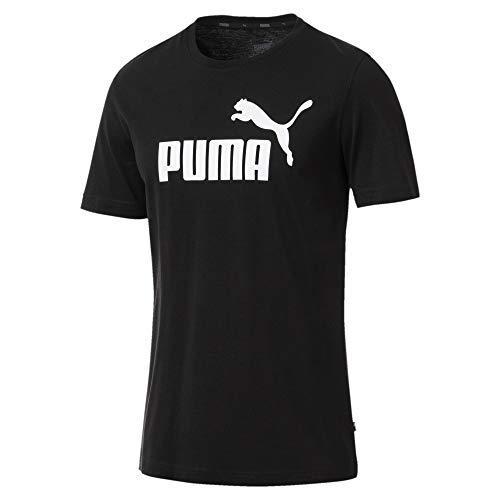 Puma Essentials LG T Camiseta de Manga Corta, Hombre, Negro (Cotton Black), 2XL