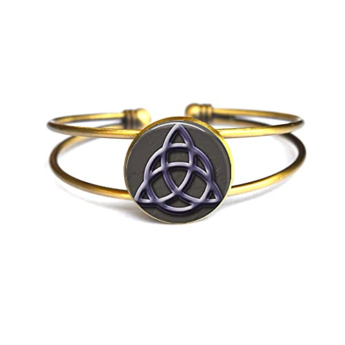 Pulsera de cristal celta del nudo de la manera del brazalete del brazalete de la pulsera de los encantos del arte de la manera de la imagen de la joyería de
