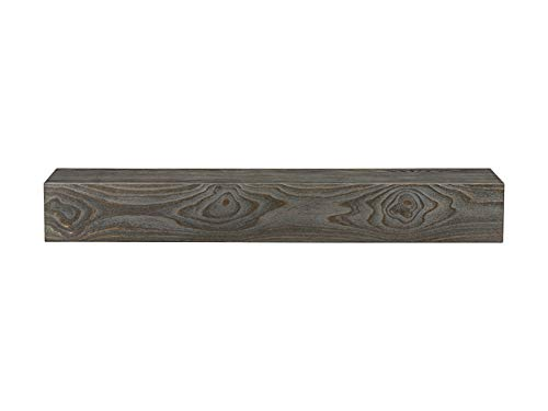 Pearl Mantels 358-60-44 Hastings Pine Fireplace Mantel Shelf, 60', Little River Sandblasted Finish