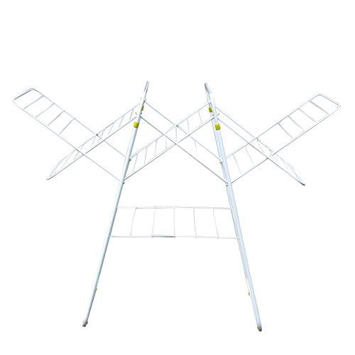 MSV TENDEDERO ACORDEON, Acero, Blanco y Azul, 140x66x105 cm
