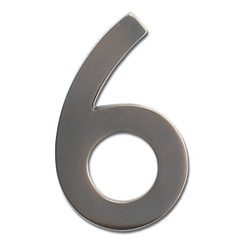 Architectural Mailboxes 3585DC-6 Brass 5-Inch Floating House Number 6, Dark Aged Copper