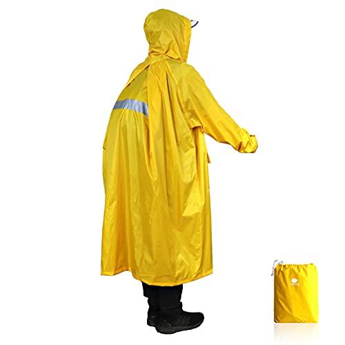 Anyoo Unisex Rain Coat Senderismo Impermeable Empaquetado Impermeable...