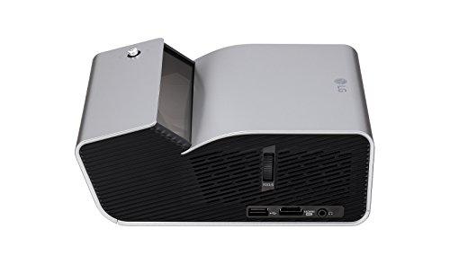 LG Electronics Minibeam PH450UG Portable Wireless LED Projector, HD (1280 x 720) - Grey -
