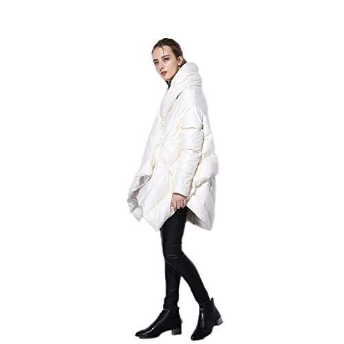 DPKDBN dames donsjack, vrouwen donsjack parka mantel Europese asymmetrische lengte wintermantel vrouwelijk