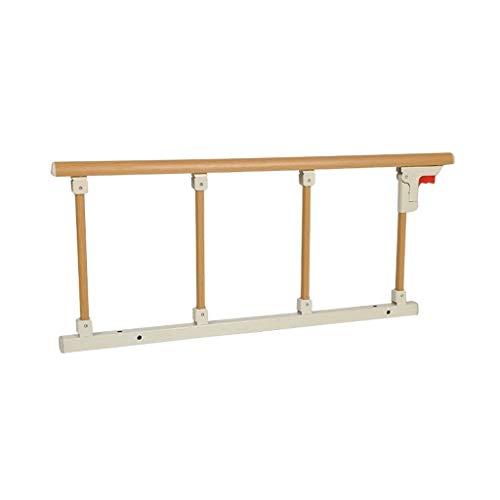 WCX Opvouwbare Ouderen Bed Rail Rood Houten Graan RVS Bed Bumper Voor Meest Normale Bedden Platform Bed Medisch Bed