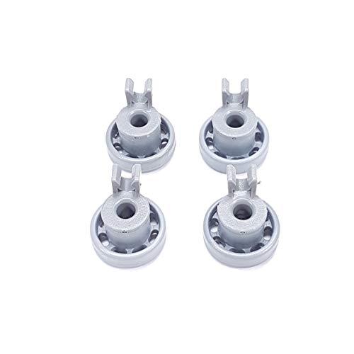 4er Set Korbrolle für Geschirrkorb Oberkorb passend wie Bosch 424717