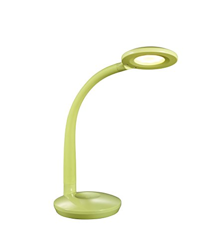 Reality, Lampe de table, Cobra incl. 1 x LED,SMD,3,0 Watt,3000K,300 Lm. Corps: Plastique, Vert L:13,0cm, H:32,0cm, P:27,0cm IP20,ON/OFF Touch,Variateur tactile,Flexible