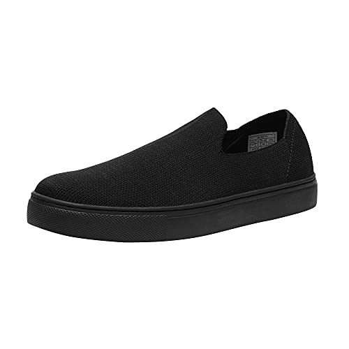 DREAM PAIRS Women s DLS214 Slip-on Sneakers Comfort Knit Casual Breathable Loafers Shoes Black Size 9