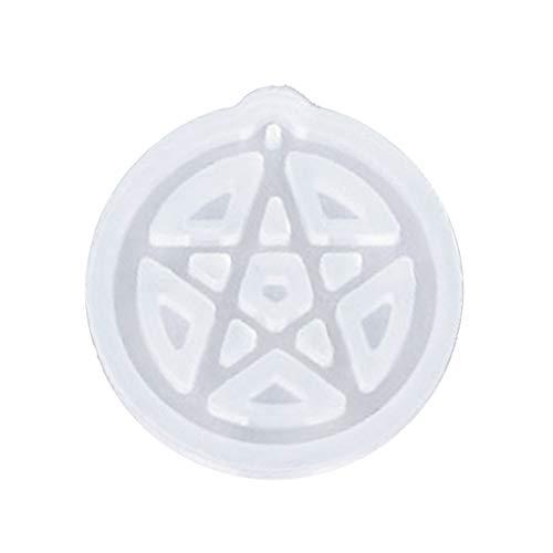MJiang Moules en silicone en forme de chat, lune et étoile en résine pour la fabrication de bijoux 4