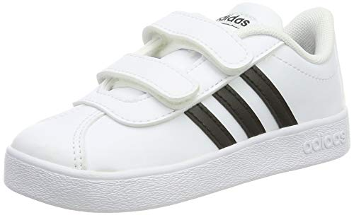 Adidas VL Court 2.0 CMF I, Zapatillas de Gimnasia, Blanco (FTWR White/Core Black/FTWR White FTWR White/Core Black/FTWR White), 25 EU