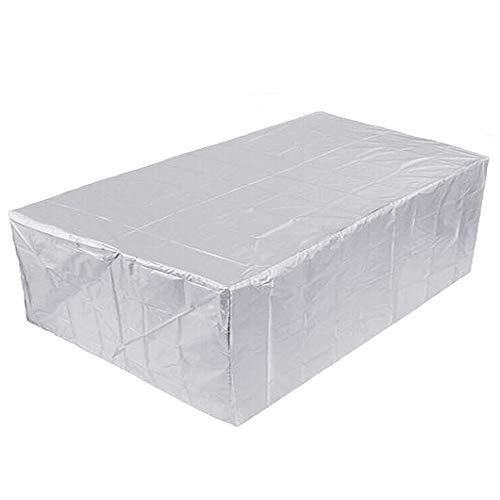CTTAO Conjuntos de Muebles 330x220x70cm Impermeable, Anti-UV, Resitente al Polvo, Muebles de jardín Funda Oxford, para Muebles de Jardín, Patio, Mesa Sillas Sofás, Plata