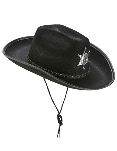 DEGUISE TOI - Chapeau Sherif Noir Adulte - Taille Unique