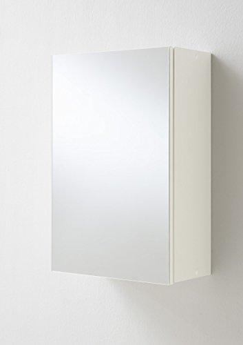 FMD furniture Spiegelschrank, Spanplatte, Weiß, ca. 40 x 61 x 16,5 cm