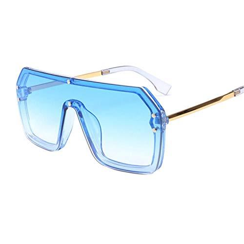 FRGH Gafas De Sol Cuadradas De Gran Tamaño para Mujer Y Hombre, Gafas De Sol Vintage para Hombre, Gafas De Montura Grande, Gafas De Sol con Escudo Negro Uv400