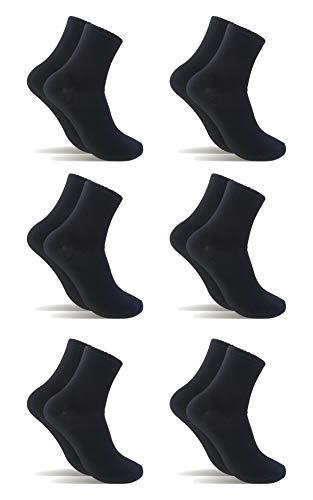 6 Pares Calcetines de algodón Mujer Hombre caña media