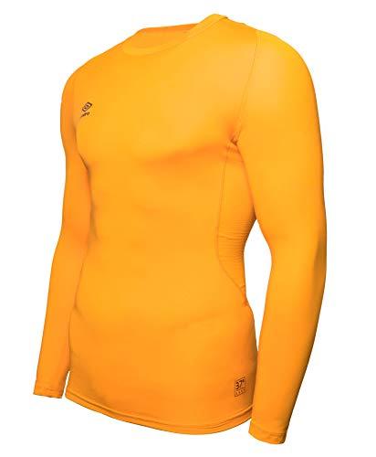 UMBRO Core LS Crew Baselayer Camiseta Térmica, Hombre, Amarillo, 2XL