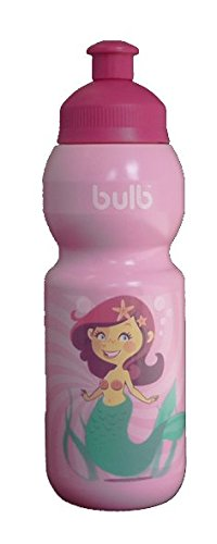 Kinder Kunststoff Trinkflasche MEERJUNGFRAU, 330 ml, auslaufsicher, schadstofffrei, spülmaschinenfest