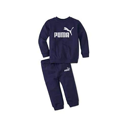 PUMA Baby-Jungen Minicats ESS Crew Jogger Trainingsanzug, Schwarz, 1-2Y