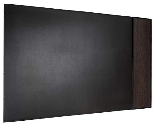 Sebastian Sturm - Base de escritorio para zurdos, madera y piel de vacuno, 700 x 440 mm, roble ahumado