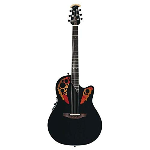 Ovation Standard Elite 2778AX Acoustic-electric Guitar, Black