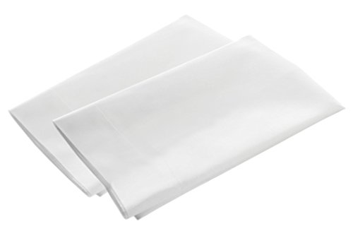 American Pillowcase Pillow Case Set, 100% Percale Egyptian Cotton, 400 Thread Count, Standard Size, White, 2 Pack