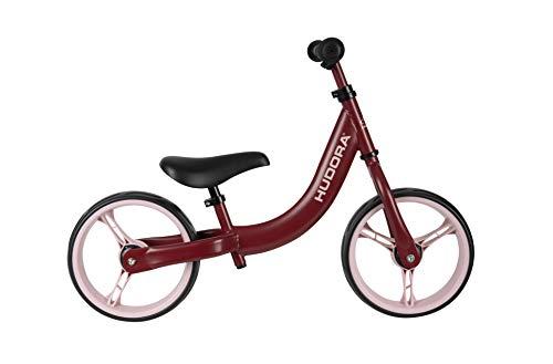 HUDORA Laufrad Classic, bordeaux | Kinder-Laufrad mit extra breiten 12 Zoll Rädern | Lauflernrad ab 3 Jahre | Sattel & Lenker höhenverstellbar | Kinderlaufrad
