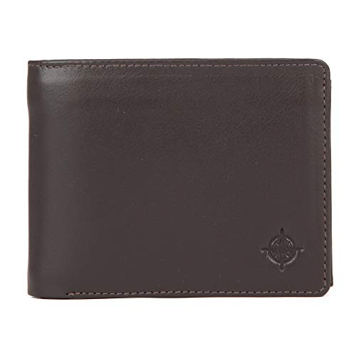 10013 Eastline Herren Leder Portemomaie Geldbörse braun Maße ca. 12,5x10cm