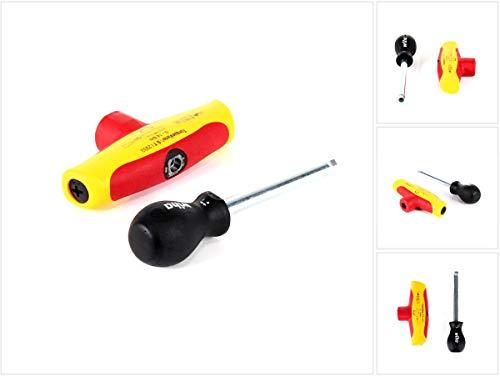 Wiha 43177 Destornillador dinamométrico, Rojo y amarillo, 5 bis 14 Nm