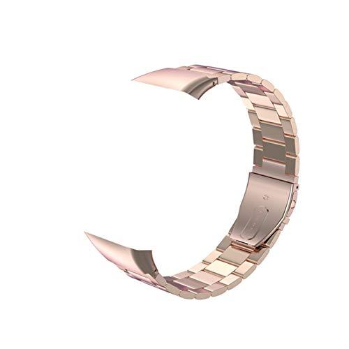 Romacci Correia de metal pulseira de substituição de pulseira inteligente sem lacunas Correia de pulseira de aço inoxidável sólido para mulheres e homens de substituição para pulseira de honra 6