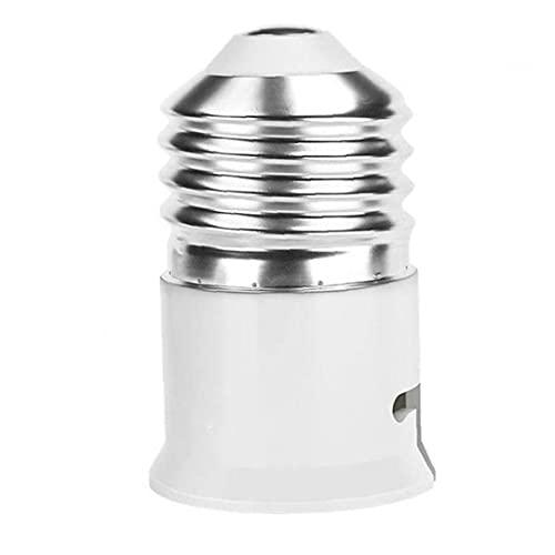 Naisicatar Adattatore per Presa Lampada Adattatore E27 Convertitore Bulb Bulb Adapter Bulb Base Converter per LED e Filettatura Lampadina Intelligente Bianco
