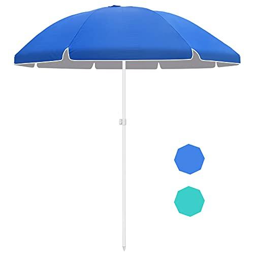 Forceatt da 7,5 piedi Ombrellone con ancoraggio di sabbia, ombrellone portatile da esterno,...