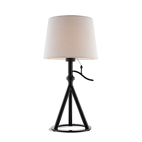 American tafellamp met drie poten voor de woonkamer van American tafellamp van stof lampenkap eenvoudig decoratief ijzer kantoor levendig licht studie slaapkamer nachtkastje bureaulamp