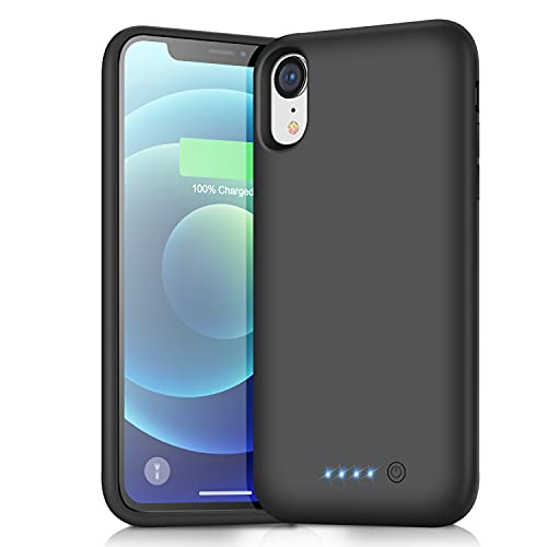 Battery Case for iPhone XR , (Newest 6800mAh)Battery Pack External Charging Case Protective Portable Cell Phone Rechargeable Charger Case Extended Battery Backup Pack Compatible with iPhone XR - Black