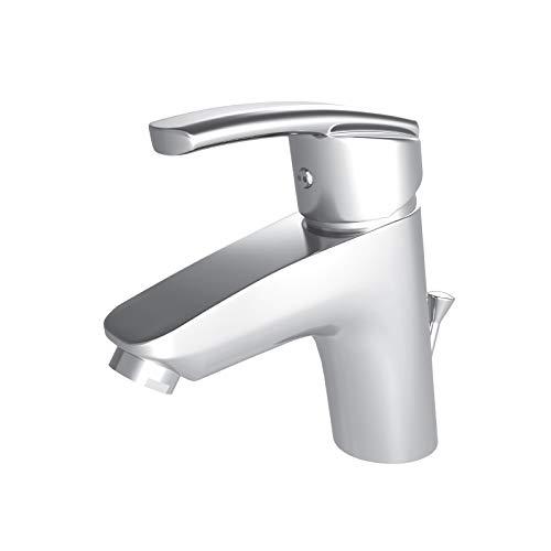 Hochwertige Waschtischarmatur Armatur Waschbecken massiv und schwer komplett Metall Serie Lore