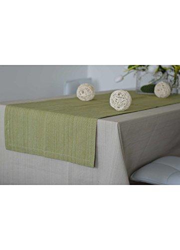 Homemaison Runner da Tavolo, Cotone, Verde, 150x 50cm