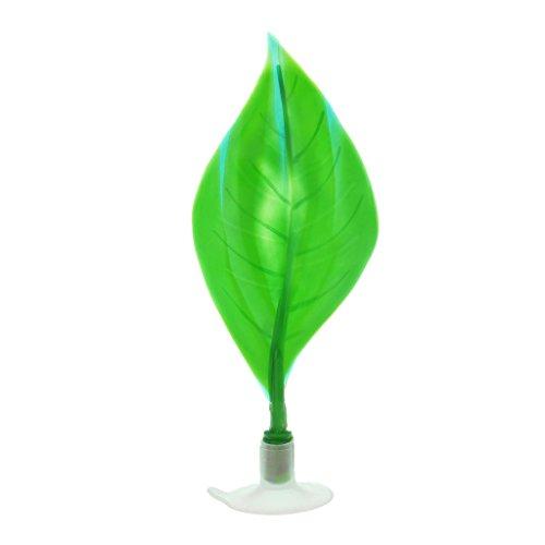 Lunji Plante Artificielle avec Ventouse Feuille de Betta - Decoration pour Aquarium (Vert)