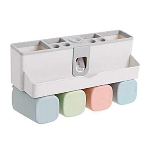 Soporte para cepillo de dientes de dientes, sin perforación, juego de taza de boca de succión de baño, estante de taza sin rastro adhesivo (tamaño: L)