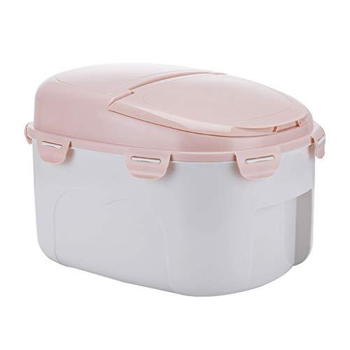 Box Aufbewahrungsbox FüR KüChe VorratsbehäLter FüR Lebensmittel Dicke Reis Aufbewahrungsbox 10kg-Kunststoff Reisfass KüChe Versiegelt Insektenfest/Feuchtigkeitsfest 38 X 24,5 X 28 cm +