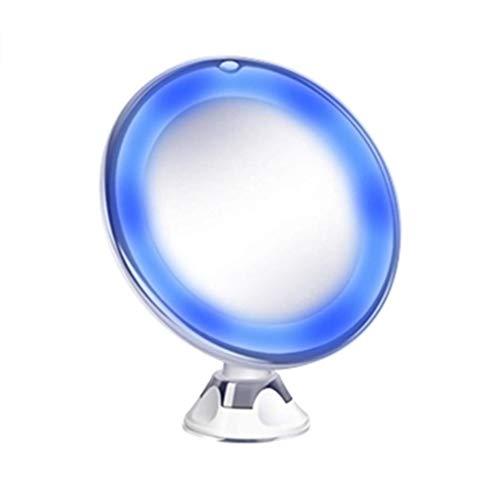 Koojawind Miroir Flexible éClairé 10X Loupe De Maquillage Grossissante Avec Ventouse Verrouillable, Miroir De Table Sur Pied Miroir Debout Libre De Vanité De Table Sur Le
