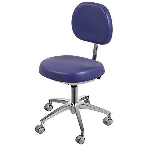 Happybuy Dental Medical Chair for Dentist Doctor Stool Adjustable Mobile Chair PU Leather (Blue)