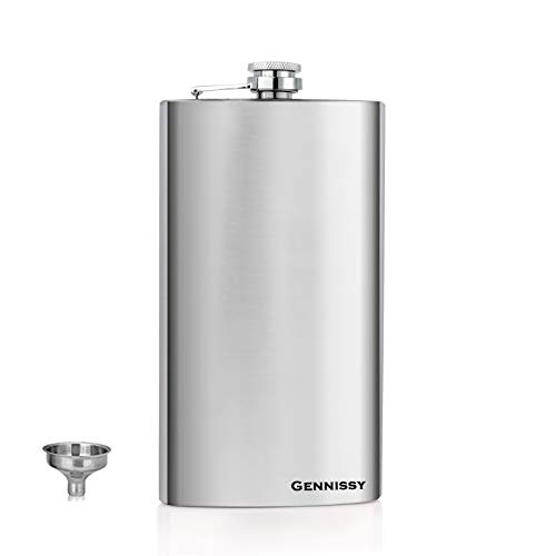 Rundafuwu Flask for Liquor and Funnel Stainless Steel Leak-Proof Hip Flask Colorful Cannabis Leaves Weed Flagon Whiskey Container Flask Pocket for Unisex