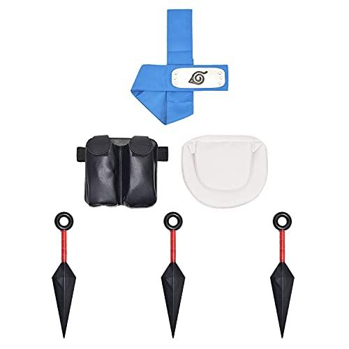 LACKINGONE Naruto Portable en Plastique Big Kunai Couteaux jetant Dart Japonais Ninja Cosplay Accessori