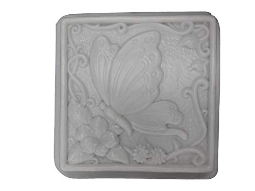 Huge Butterfly W Flower Stepping Stone Concrete Plaster Mold 1003