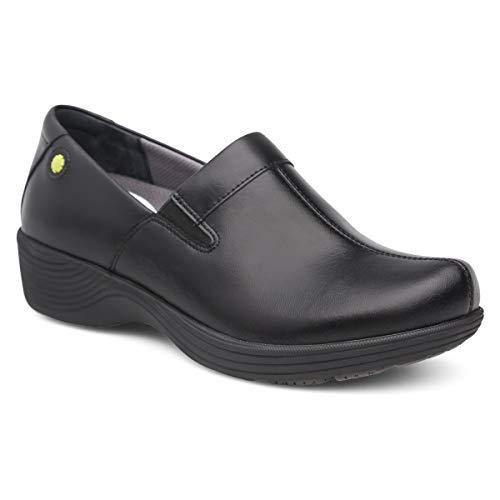 Dansko Women's Coral Clog, Black Leather, 37 Medium EU (6.5-7 US)